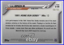 2020 Chrome Update Target Home Run Derby Gold Refractor /50 Cal Ripken Jr HOF