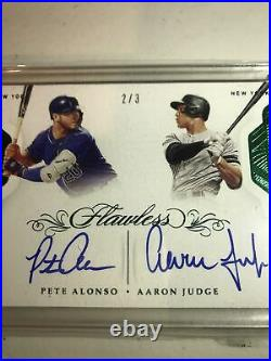 2020 Flawless 2/3 Aaron Judge Yankees Auto/ Pete Alonso Mets Home run Derby