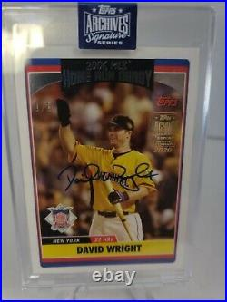 2020 Topps Archives 1/1 David Wright Auto Home Run Derby