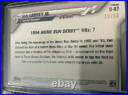 2020 Topps Chrome GOLD REFRACTOR Ken Griffey Jr # Home Run Derby 15/50