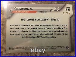 2020 Topps Chrome Update Cal Ripken Jr. Red Refractor #07/25 Home Run Derby