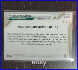 2020 Topps Chrome Update Mark McGwire 1992 Home Run Derby #U296 Oakland A's PWE