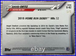 2020 Topps Chrome Update Sapphire David Ortiz Home Run Derby Padparadscha 1/1