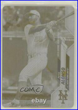 2020 Topps Update Home Run Derby Printing Plate Yellow 1/1 Pete Alonso #U-148