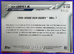 2020 Topps Update KEN GRIFFEY JR. U-150 Home Run Derby Camo #02/25