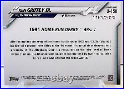 2020 Topps Update Ken Griffey Jr. 1994 Home Run Derby Gold Parallel #1161/2020