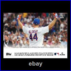 2021 Topps Now #504a Pete Alonso Auto /99 T-mobile Home Run Derby Champion
