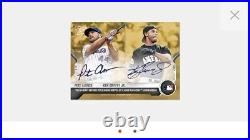 2021 Topps Now #505D Pete Alonso / Ken Griffey Jr On-Card Auto # to 1 1/1 Gold