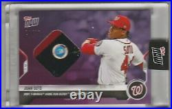 2021 Topps Now #HRD3B Juan Soto Home Run Derby Sock Relic 24/25 Nationals