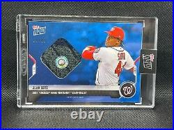 2021 Topps Now Juan Soto Home Run Derby Blue Sock Relic Event Worn /49 Nationals