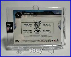 2021 Topps Now Salvador Perez 1/1 Gold Home Run Derby Used Ball Relic 498C
