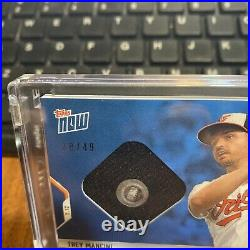2021 Topps Now Trey Mancini Home Run Derby Sock Relic /49 #HRD-2A Orioles