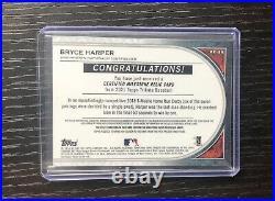 2021 Topps Tribute Bryce Harper Milestone Relic Card 06/10 Home Run Derby Ball