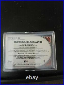 2021 Topps Tribute Pete Alonso Home Run Derby Relic #08 Of 10