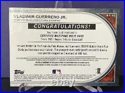 2021 Topps Tribute Vlad Guerrero Jr. Milestone Relic 7/10 SSP Home Run Derby
