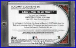2021 Topps Tribute Vladimir Guerrero Jr Milestone Relic Home Run Derby GU 02/10
