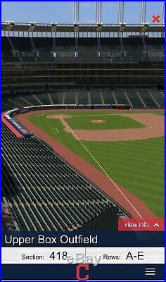 2 Tickets 2019 MLB Home Run Derby Sec 418 Row C-All Star Week in Cleveland