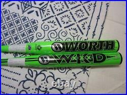 2- Worth Wicked XXX Senior HOME RUN DERBY Bats. 26 oz and 27oz