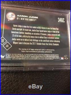 AARON JUDGE 12/25 Purple On Card Auto BGS 9.5 / 10 Pop 1 Grades HOME RUN DERBY