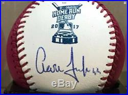 AARON JUDGE Autographed 2017 HOME RUN DERBY Signed Baseball #99 Yankees COA