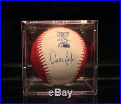 AARON JUDGE CUBED PINK HOME RUN DERBY SIGNED AND AUTHENTICATED BASEBALL With COA