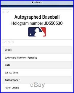 AARON JUDGE Signed Authentic 2017 Home Run Derby Moneyball Yankees FANATICS