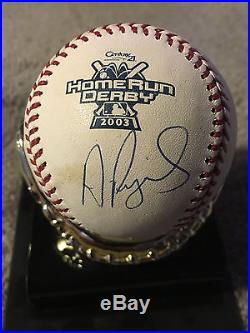 Albert Pujols Signed Autographed 2003 Home Run Derby Game Baseball Mlb Coa Read