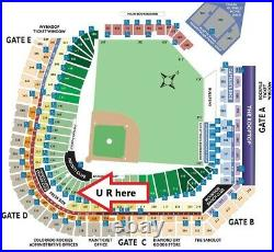 ALL-STAR WORKOUT + HOME RUN DERBY 2 MLB GAME TICKETS at PLATE 7-12-2021 COLORADO