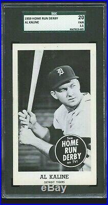 AL KALINE 1959 Home Run Derby SGC 20 Fair Great Eye Appeal Staple Hole RIP