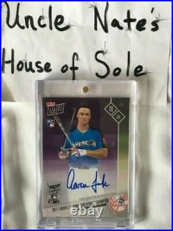 AUTO Aaron Judge Topps Now 2017 AS Game Home Run Derby Winner RC 19/25, Mint