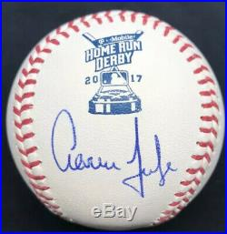 Aaron Judge 2017 Home Run Derby Signed Baseball MLB Holo Hologram Yankees