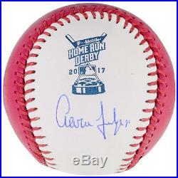 Aaron Judge Autographed 2017 Pink Home Run Derby Logo Baseball
