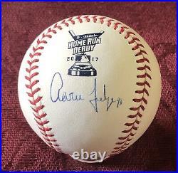 Aaron Judge Autographed 2017 Rawlings Home Run Derby Baseball Fanatics-MLB COA