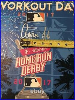 Aaron Judge Autographed 2017 Replica Home Run Derby Ticket Canvas Fanatics MLB
