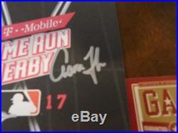 Aaron Judge & Gary Sanchez Autograph Hand Signed Home Run Derby Program COA