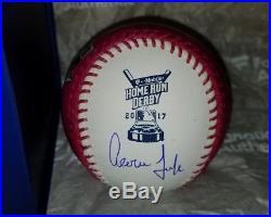 Aaron Judge Home Run Derby Moneyball Signed Romlb Baseball Fanatics Mlb Flawless