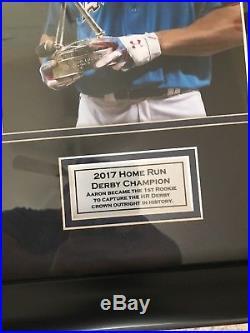 Aaron Judge Homerun Derby Autographed Plaque