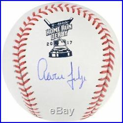 Aaron Judge NY Yankees Signed 2017 Home Run Derby Logo Baseball Fanatics