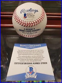 Aaron Judge NY Yankees Signed 2017 Home Run Derby Logo Beckett COA