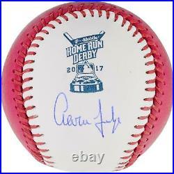 Aaron Judge NY Yankees Signed 2017 Pink Home Run Derby Moneyball Baseball