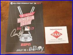 Aaron Judge New York Yankees Autographed ESPN Home Run Derby Program COA