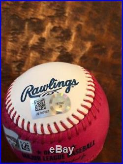 Aaron Judge Signed 2017 Home Run Derby Baseball Fanatics MLB Coa Yankees