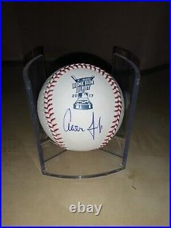 Aaron Judge Signed Autograph 2017 Home Run Derby ROMLB Baseball Yankees Winner