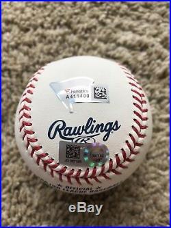 Aaron Judge Signed Autographed 2017 Home Run HR Derby Baseball Fanatics MLB COA