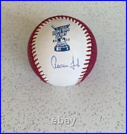 Aaron Judge Signed Baseball 2017 Home Run Derby Signed /Beckett Cert