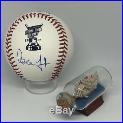 Aaron Judge signed Rawlings 2017 Home Run Derby Baseball Fanatics MLB Holo A975