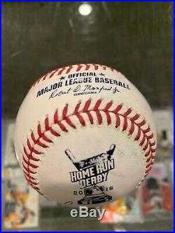 Adam Duvall Reds All Star Homerun Derby Used Signed Baseball Mint Petco