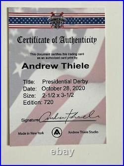 Andrew Thiele Auto to 50 Presidential Home Run Derby Trump v. Biden PR 720 RARE