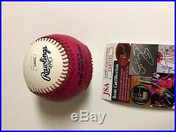 Autographed Pete Alonso official Home Run Derby Baseball JSA certified signed