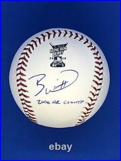 Bobby Witt Jr Autograph Signed Homerun Derby Baseball with 2018 HR Champ JSA COA